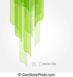 eco, abstrakt, grönt lämnar, bakgrund