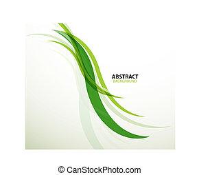 eco, abstrato verde, linhas, fundo