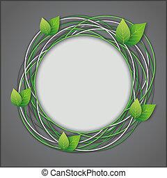 eco, abstratos, folhas, fundo