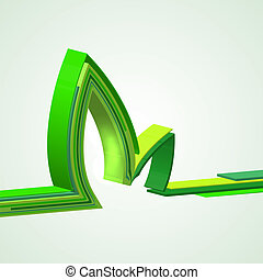 eco, achtergrond., abstract, vector, illustratie