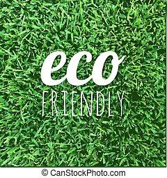 eco, affiche, amical