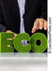 eco alphabet concept