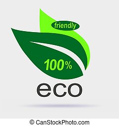 eco, amical, étiquette
