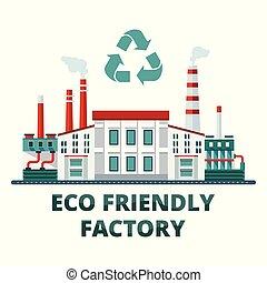 eco, amical, usine
