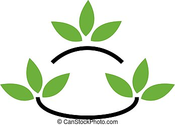 eco, amichevole, affari, logotipo