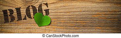 eco, amichevole, blog, -, verde