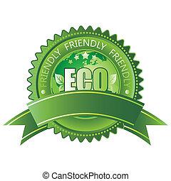 eco-amigável, ícone