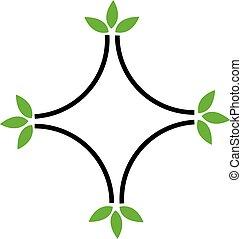 eco, amigável, logotipo, negócio