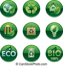 eco and bio buttons