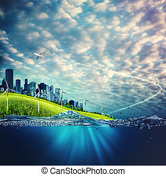 Eco and environmental concept backgrounds for your design