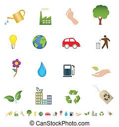 Eco and green environment symbols