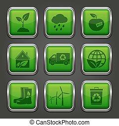 eco, app, tasten