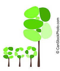 eco, arbres, abstact