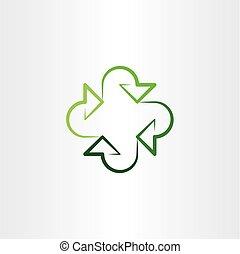 eco arrows recycle vector icon logo symbol