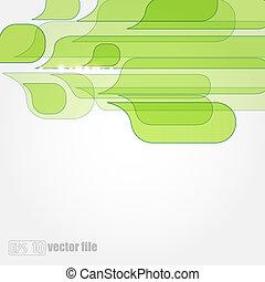 eco, astratto, congedi verdi, fondo