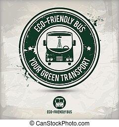 eco, autobus, alternative, amical, timbre