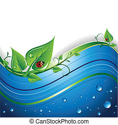 Eco Background - An abstract eco background, with leaves, ...