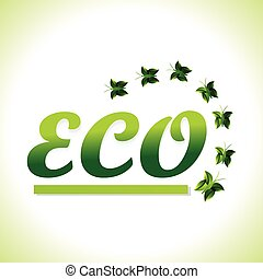 Eco Background With Butterfly