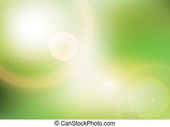 Eco background with sunlight. Vector. Template design