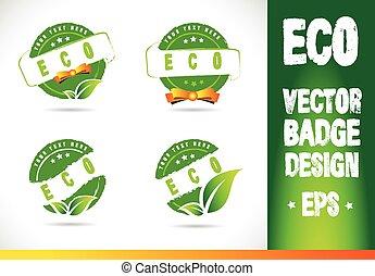 Eco Badge Logo Vector