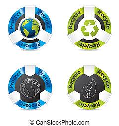Eco badge set
