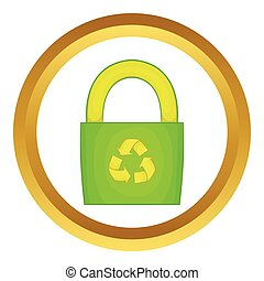 Eco bag vector icon