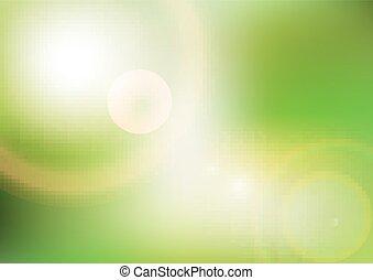 eco, baggrund, sollys