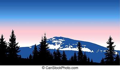 Eco banner. Mountains