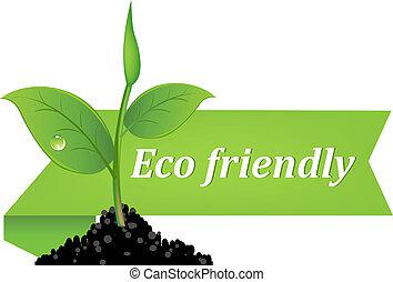 eco, bannière, amical