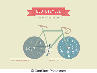 eco bike - eco bicycle, reduce carbon dioxide amd increase...