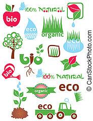 eco, bio, ícones