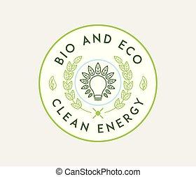 eco, bio, エネルギー, きれいにしなさい