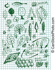 eco  bio and nature symbols