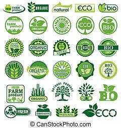 eco, bio, etiquetas