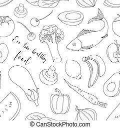Eco bio healthy food pattern