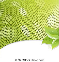 eco, bladen, grön fond