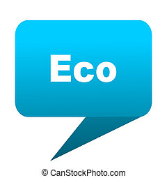 eco blue bubble icon