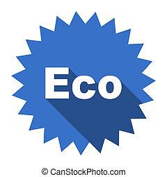 eco blue flat icon