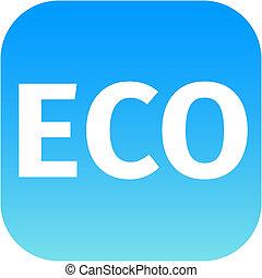 eco blue icon - ecology