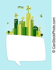 eco, bolla, sociale, media, verde, discorso