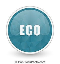 Eco brillant crystal design round blue web icon.