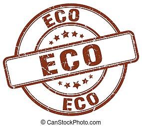 eco brown grunge round vintage rubber stamp