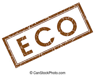 eco brown square stamp