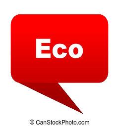 eco bubble red icon