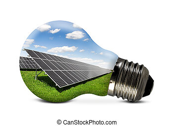 eco bulb - Bulb with of solar panel