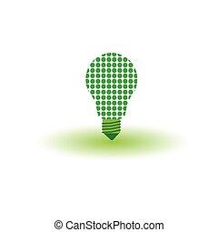 eco bulb green vector illustration
