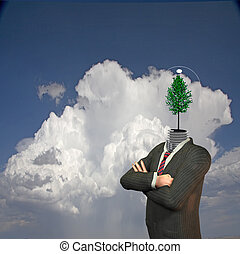 Eco bulb man