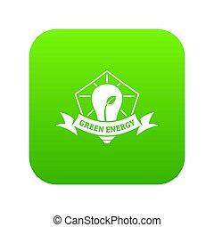 eco, bulwa, energia, zielony, ikona