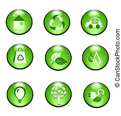 Eco buttons - Illustration of different kind of eco buttons...