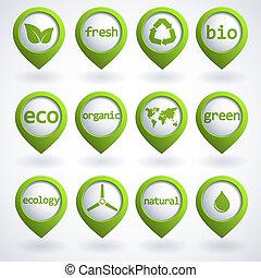 Eco buttons set